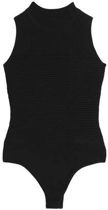Cushnie et Ochs Ribbed-Paneled Stretch-Jersey Bodysuit