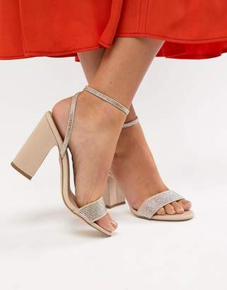 New Look Bling Block Heel Sandal
