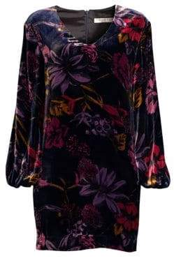 Trina Turk Eclair Floral Velvet Shift Dress