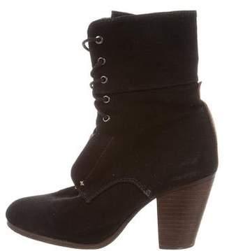 Rag & Bone Canvas Lace-Up Ankle Boots