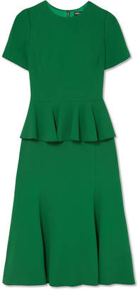 Dolce & Gabbana Crepe Peplum Dress - Green