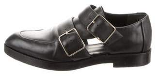 Alexander Wang Leather Buckle-Accented Loafers Black Leather Buckle-Accented Loafers