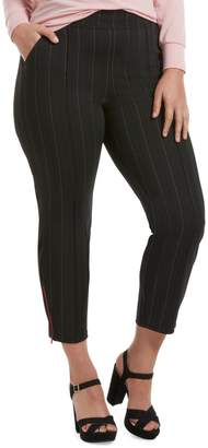 Hue Pinstripe Loafer Skimmer Leggings