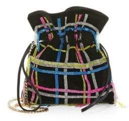 Les Petits Joueurs Trilly Disco Tartan Drawstring Crossbody Bag