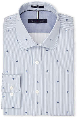 Tommy Hilfiger Stripe Fish Slim Fit Dress Shirt