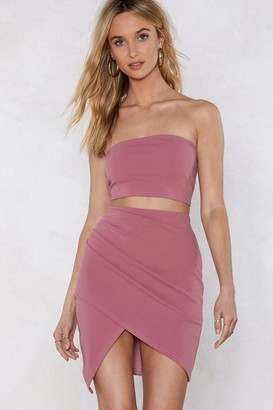 Nasty Gal Together Or Apart Bandeau Top And Skirt Set