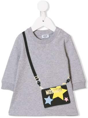 Moschino Kids handbag print dress