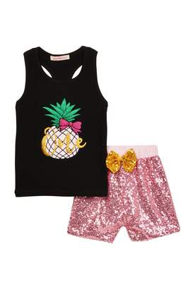 Paulinie Pineapple Tank 2-Piece Set (Baby, Toddler, & Little Girls)