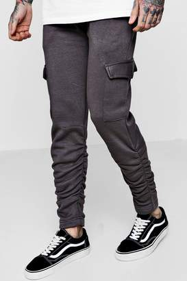 boohoo Skinny Fit Cargo Trousers With Ruching