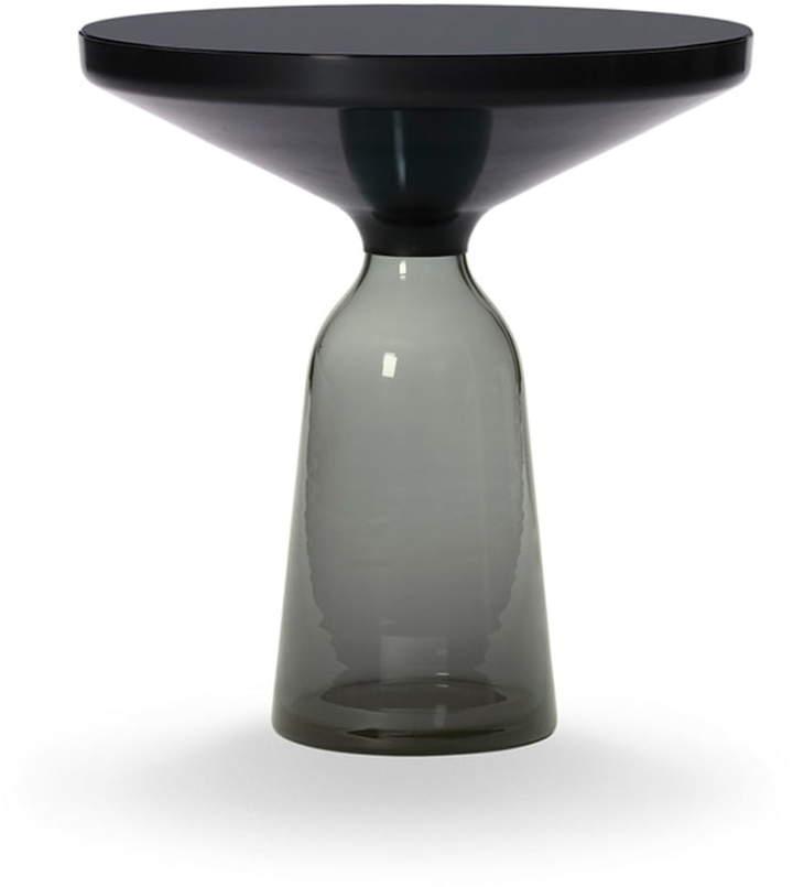 ClassiCon - Bell Beistelltisch, Stahl schwarz brüniert / quarz-Grau