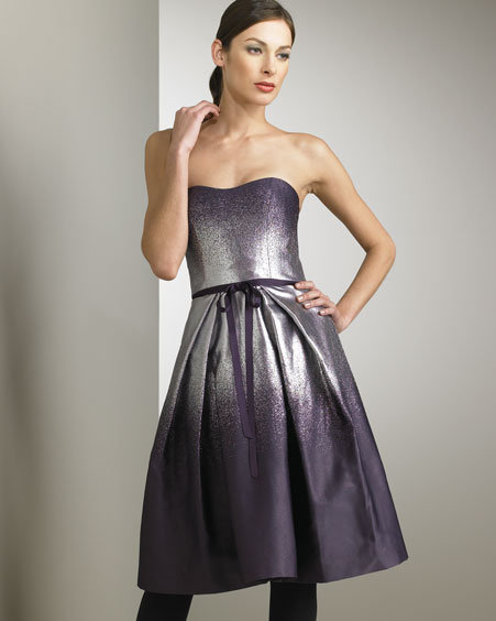 Carolina Herrera Lame Degrade Dress