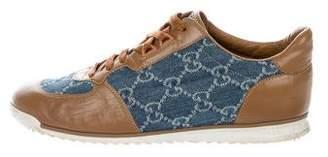 Gucci Guccissima Denim-Trimmed Sneakers