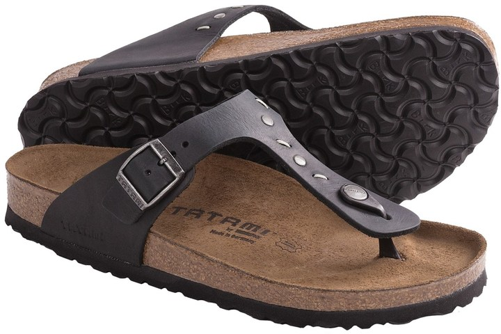 Birkenstock Tatami by Gizeh Studs and Stitches Sandals - Leather (For Women)