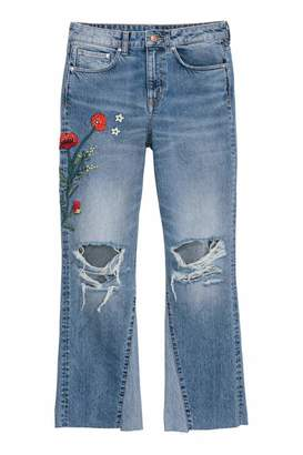H&M Jeans - Denim blue/Flowers - Women