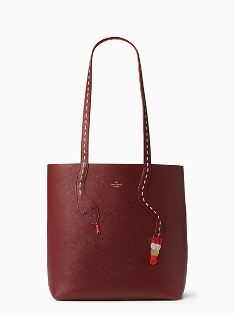 On purpose leather snake tote