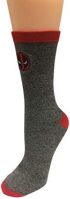 Marvel 1 Pair Deadpool Crew Socks-Mens