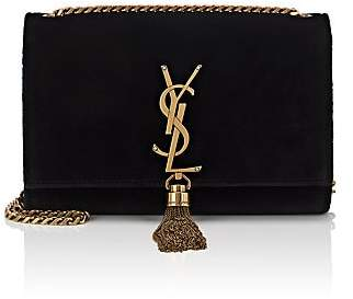 Saint Laurent Women's Monogram Kate Small Velvet Chain Bag