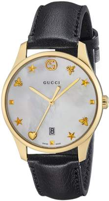 Gucci G-timeless Dial Men's Leather Watch YA1264044