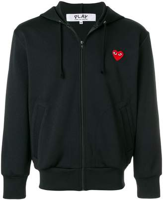 Comme des Garcons heart logo zipped hoodie
