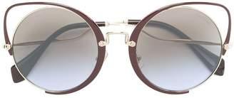 Miu Miu oversized cat-eye sunglasses