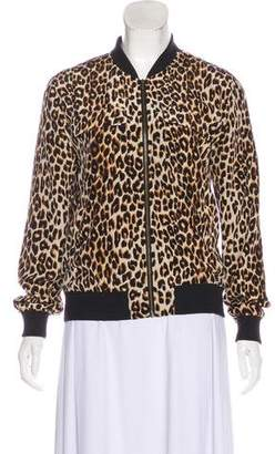 Equipment Animal Print Bomber Jacket