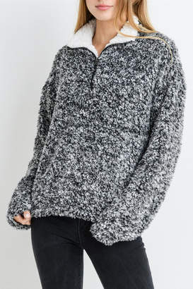 Paper Crane Fuzzy Sweater