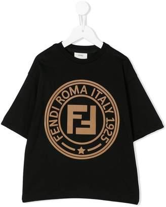 Fendi half sleeve logo T-shirt