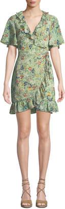 Glamorous Ditsy Floral-Print Wrap Dress