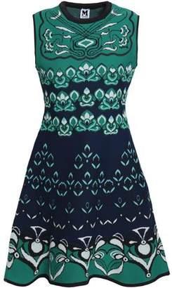 M Missoni Flared Jacquard-Knit Mini Dress