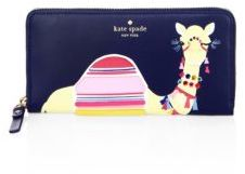 Kate Spade Kate Spade New York Spice Things Up Camel Lacey Leather Wallet