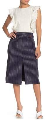 Line & Dot Torri Stripe Patch Pocket Skirt
