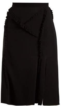 Altuzarra Minaret Ruffle Trimmed Skirt - Womens - Black