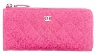 Chanel Matte Caviar L-Zip Wallet