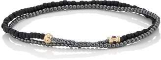 Luis Morais Men's Beaded Double-Wrap Bracelet