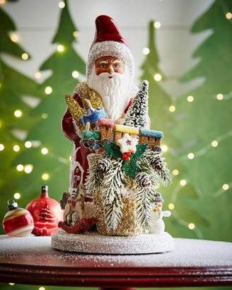 Ino Schaller Santa with Toys Paper Mache Figurine