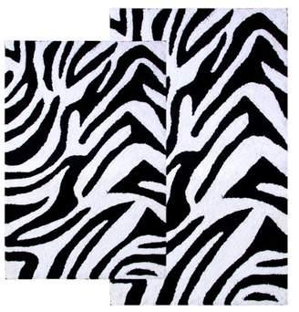 Chesapeake Merchandising Zebra Print 2-pc. Bath Rug Set