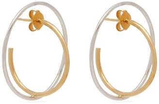 Charlotte Chesnais Saturn 18kt gold and sterling-silver earrings