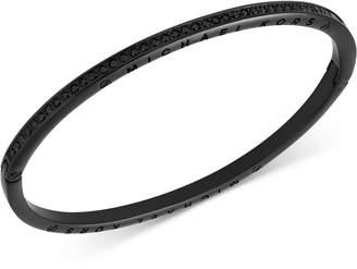 Michael Kors Black-Tone Stainless Steel Jet Pavé Hinged Bangle Bracelet, Created for Macy's
