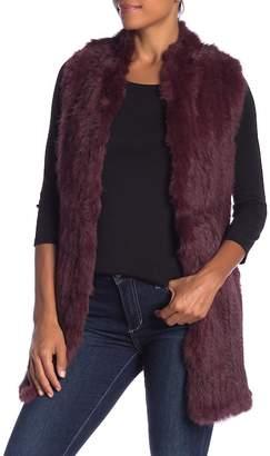 Love Token Genuine Dyed Rabbit Fur Vest