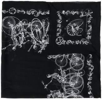 Alexander McQueen skeleton scarf