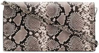 HTC Los Angeles snakeskin-effect clutch