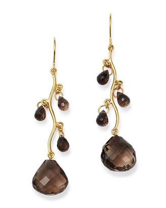 Bloomingdale's Smoky Quartz Chandelier Earrings in 14K Yellow Gold - 100% Exclusive