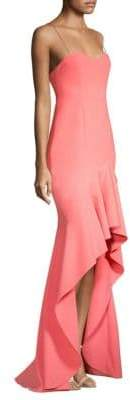 LIKELY Vita Ruffle High-Low Gown