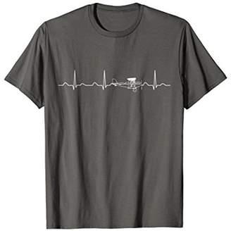 Airplane Pilot Heartbeat Shirt