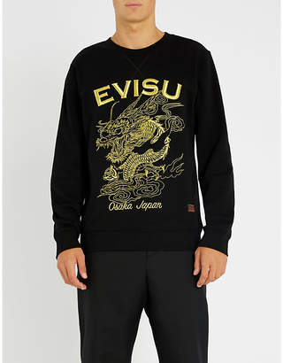 Evisu Golden dragon cotton-jersey sweatshirt