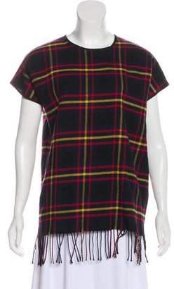 Hache Virgin Wool Short Sleeve Top
