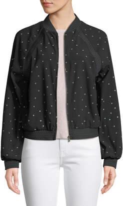 Avantlook Mr. Polka Dot Zip-Front Bomber Jacket