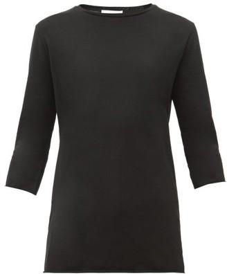 Raey - Half Sleeve Cotton T Shirt - Womens - Black