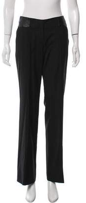Magaschoni Leather-Trimmed Pants