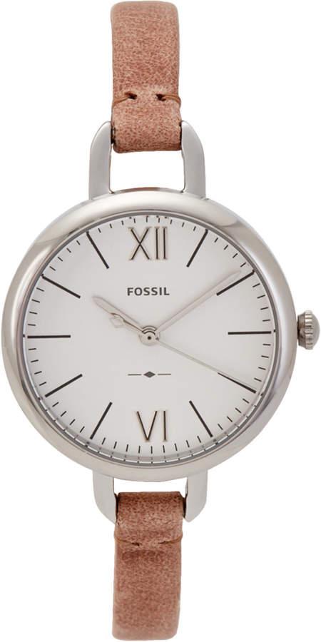 Fossil ES4361 Silver-Tone & Tan Watch